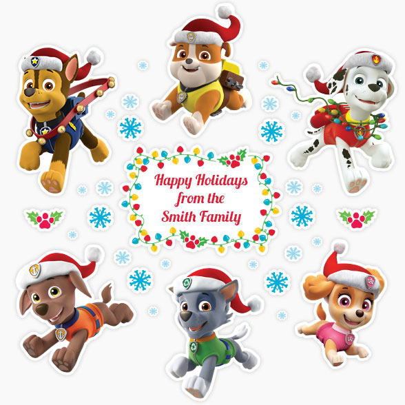 Labels For Kids Paw Patrol Christmas Decals